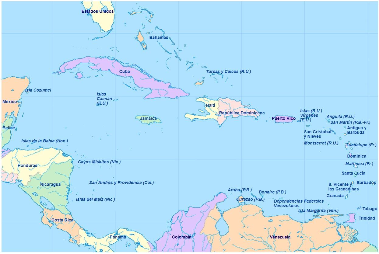 mapa-del-caribe